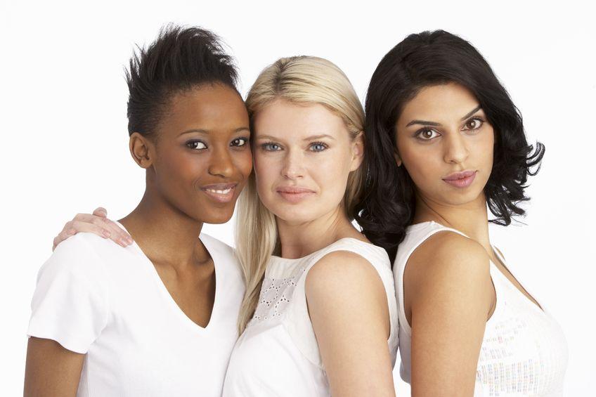 8453094 - portrait of three attractive young women in studio